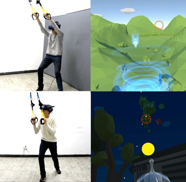BEST DEMO VOTED BY ATTENDEES - Enhancing Suspension Activities in Virtual Reality with Body-Scale Kinesthetic Force Feedbacks