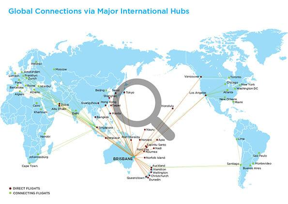 global connections with mag glass